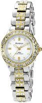 Swarovski Armitron Now Womens Crystal-Accent Two-Tone Brass Watch