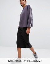Daisy Street Tall Jersey Midi Skirt