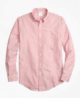 Brooks Brothers Non-Iron Regent Fit Border Stripe Sport Shirt