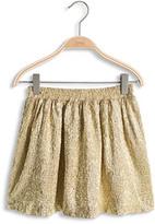 Esprit OUTLET shiny gold crinkle-effect skirt