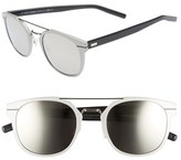 Christian Dior Men's 'Al 13.5S' 52Mm Sunglasses - Metallic Silver/ Blue