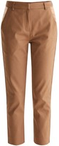 Tailored Trousers With Satin Pockets In Brown
