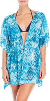 Hawaiian Tropic Geometric Print Cover-Up Kimono