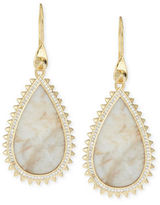 Eddie Borgo White Lace Agate Teardrop Earrings