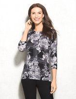 dressbarn roz&ALI Floral Printed Sweater