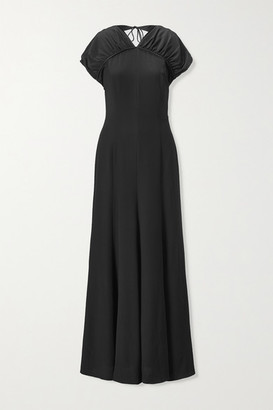 TOVE Yves Open-back Silk-crepe Maxi Dress - Black