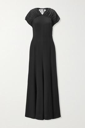 TOVE Yves Open-back Silk-crepe Maxi Dress - Black