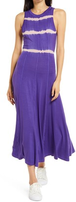 Ninety Percent Tie Dye Stripe Open Back Maxi Dress