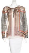 L'Agence Printed Silk Chiffon blouse