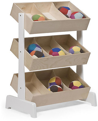 Oeuf Toy Storage Unit - Natural/White