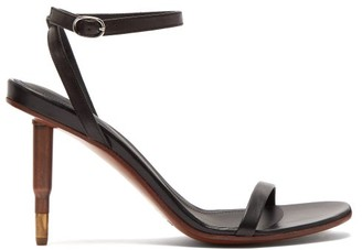 Vetements Killer Bullet-heel Leather Sandals - Womens - Black