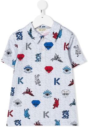 Kenzo Kids Logo Embroidered Polo Shirt