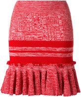 Alexander McQueen knitted peplum skirt - women - Silk/Polyamide/Spandex/Elastane/Wool - XS