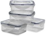 Lock & Lock Rectangular Storage Containers (Set of 4)