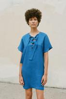 Mara Hoffman Lace Up Mini Dress