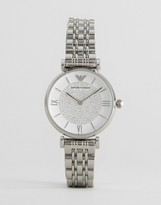 Emporio Armani AR1925 Silver Gianni T Bar Mesh Watch