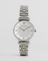 Emporio Armani Silver Gianni T Bar Mesh Watch
