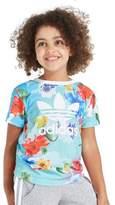 adidas Girls' All Over Print T-Shirt & Short Set Children