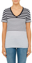 BOSS ORANGE Vashion Stripe V Neck Tee