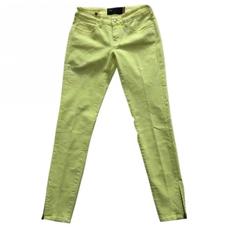 Notify Jeans Yellow Cotton Trousers for Women