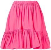 MSGM Ruched Panelled Skirt
