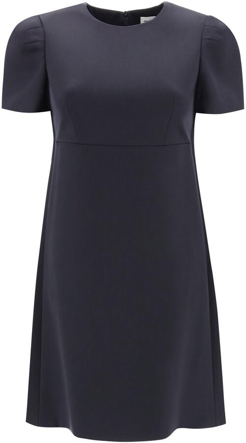 Thumbnail for your product : Alexander McQueen SHORT GABARDINE DRESS 38 Blue Wool