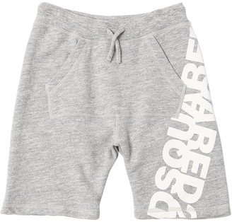 DSQUARED2 Cotton Sweat Shorts W/ Logo Print