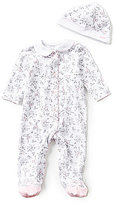 Little Me Baby Girls Preemie-9 Months Bird Toile-Print Footed Coverall and Hat Set