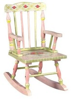 The Well Appointed House Teamson Design Hand Painted Children's Rocker with Pink Crackle Finish