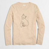 J.Crew Factory Embroidered fox Teddie sweater
