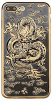"""Iphone 7 Dragon Case,Jesiya Super Cool Chinese Style Gold 3D Dragon Design Electroplating Bumper Ultra Thin Case Cover For Iphone 7 4.7"""""""