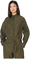 Jason Wu Patch Pocket Military Shirt (Military Green) Women's Clothing