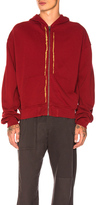 Haider Ackermann Zip Up Hoodie in Red.
