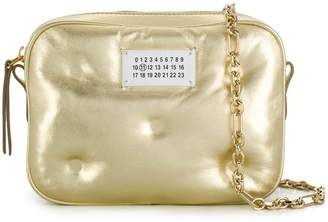 Maison Margiela logo patch metallic crossbody bag