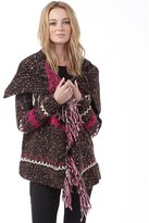 Superdry Womens Avoriaz Tassel Cardigan Chocolate Nep