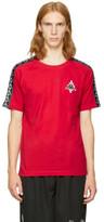 Marcelo Burlon County of Milan Red Kappa Edition Long Sleeve T-shirt