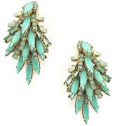 Elizabeth Cole Billie Earrings GREEN