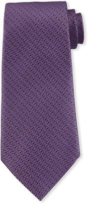 Ermenegildo Zegna Tonal Circles Silk Tie, Purple
