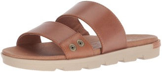 Sorel Women's TORPEDA Slide II Flat Sandal Camel Brown Ancient Fossil 9.5 Medium US