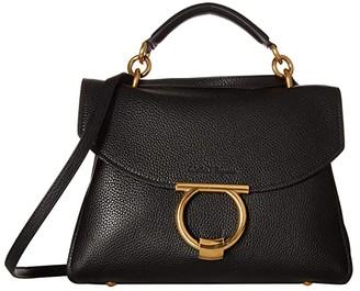 Salvatore Ferragamo Small Top-Handle Bag (Nero) Handbags