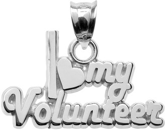 """Insignia Collection Sterling Silver """"I Love My Volunteer"""" Pendant"""