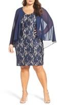 Alex Evenings Plus Size Women's Sequin Lace Sheath Dress