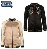 Firetrap Blackseal Embroidered Bomber Jacket