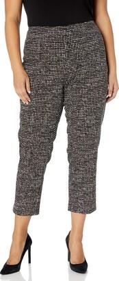 Nic+Zoe Women's Petite Abstract Tweed WONDERSTRETCH Pant