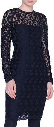 Akris Punto Dotted Devore Illusion Dress