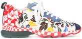 Fendi lace-up sneakers - women - Cotton/Leather/rubber - 36