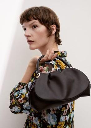 MANGO Chain puffed bag black - One size - Women