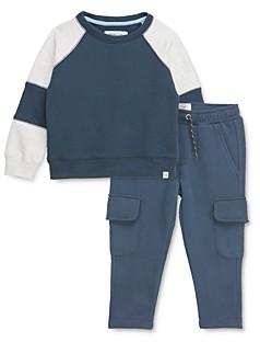 Sovereign Code Boys' Fury Color-block Sweatshirt & Trench Cargo Jogger Pants Set - Baby