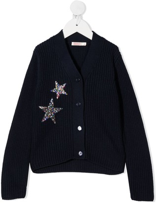 Billieblush Embellished Star Patch Cardigan