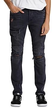 Hudson Blind Biker Skinny Fit Jeans in Full Court